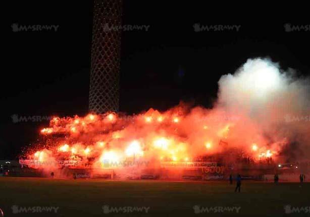 """""""أولتراس أهلاوي"""" تُشعل ملعب التتش بذكرى 28 يناير استعدادًا للقمة"""