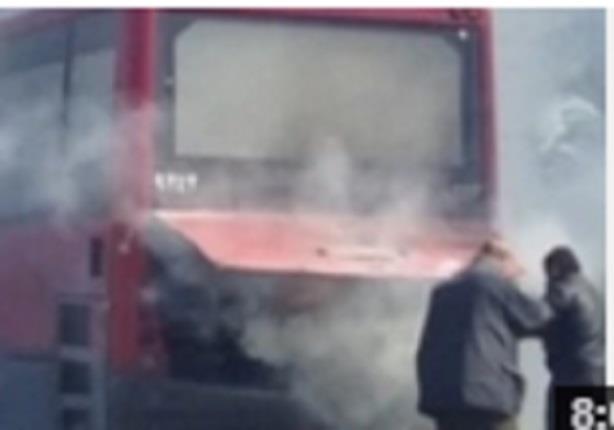 6مسلحين يحرقون اتوبيسين نقل عام بالقليوبية بعد انزال الركاب
