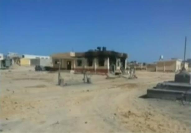 التليفزيون يبث أول صور من مواقع التفجير الارهابي بالعريش