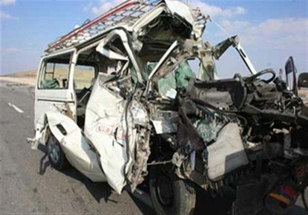 مصرع وإصابة 13شخصا في انقلاب ميكروباص ببني سويف