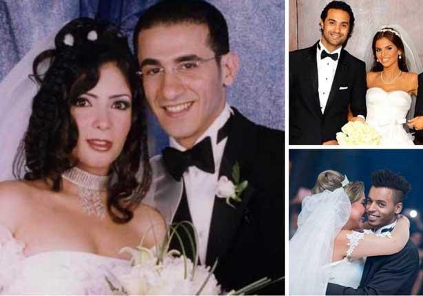 أجمل صور المشاهير الرجال فى زفافهم