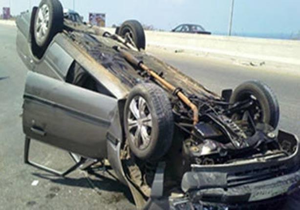 مرشح بالإعادة يتعرض لحادث بطريق الإسماعيلية الصحراوي