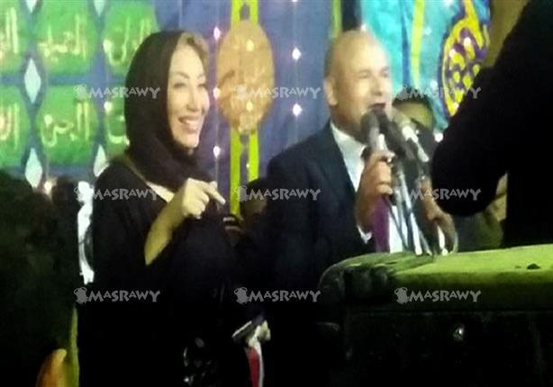 """بالصور : أول ظهور للإعلامية ريهام سعيد بعد وقفها ترتدي """" عباية """" في حفل """" نائب الجن والعفاريت 3 30/11/2015 - 2:05 م"""