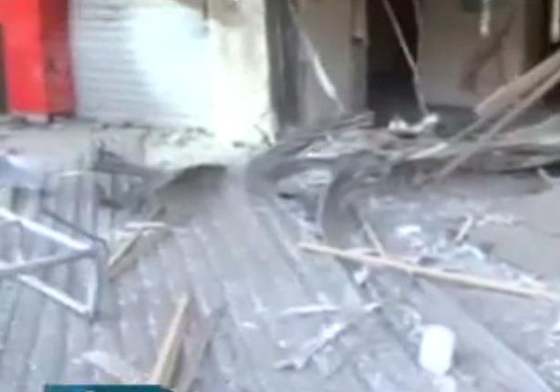 آثار  انفجار عبوات ناسفة في مناطق المهندسين وشارع السودان وإمبابة
