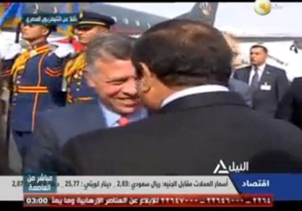 مراسم استقبال السيسي للعاهل الأردني بمطار القاهرة