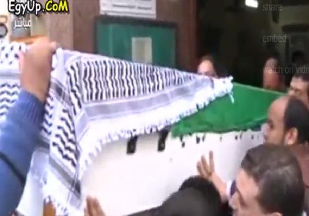 تشييع جثمان الفنان غسان مطر من مسجد مصطفى محمود