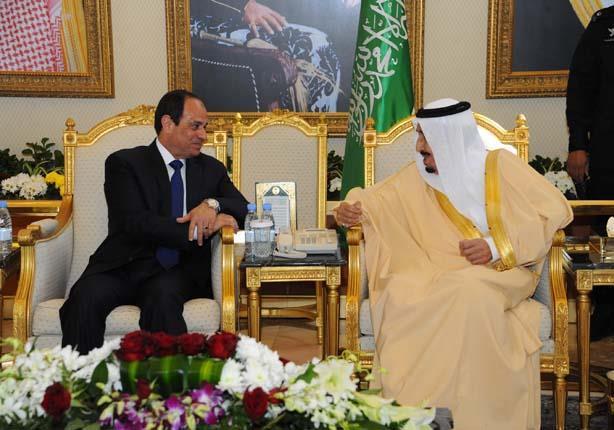 العاهل السعودي يقيم مأدبة غداء تكريما للرئيس السيسي