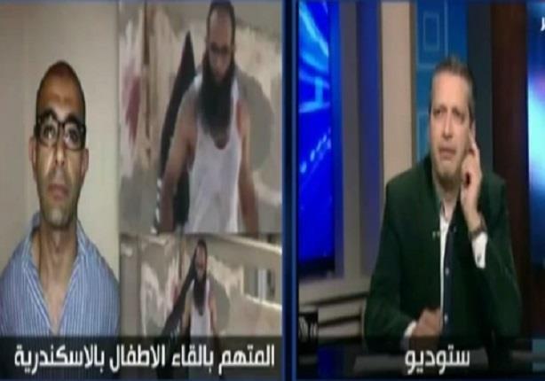 شاهد رد فعل تامر امين على مظاهرات الاسكندرية للتضامن مع قاتل الاطفال