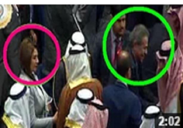 حضور توفيق عكاشة وحياة الدرديري القمة العربية ويصافحون روؤساء وملوك العرب