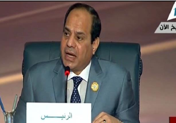 السيسي : يعلن قرار الدول العربية لتكوين قوة عسكرية عربية مشتركة