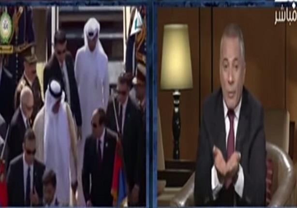 أحمد موسى ينتقد استقبال السيسي لأمير قطر