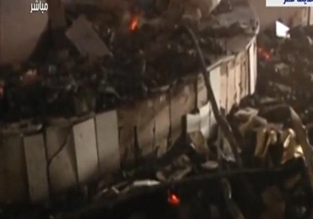 لقطات من داخل قاعة المؤتمرات تكشف تدمير وحرق القاعة الرئيسية بالكامل
