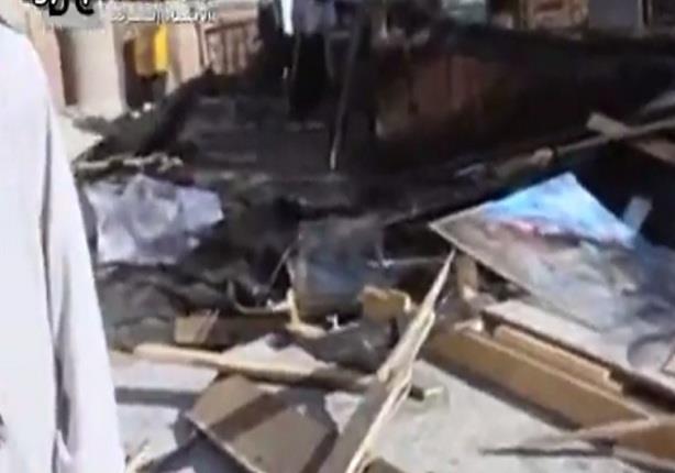 آثار انفجار قنبلة بجوار سكك الحديد بكوم أمبو