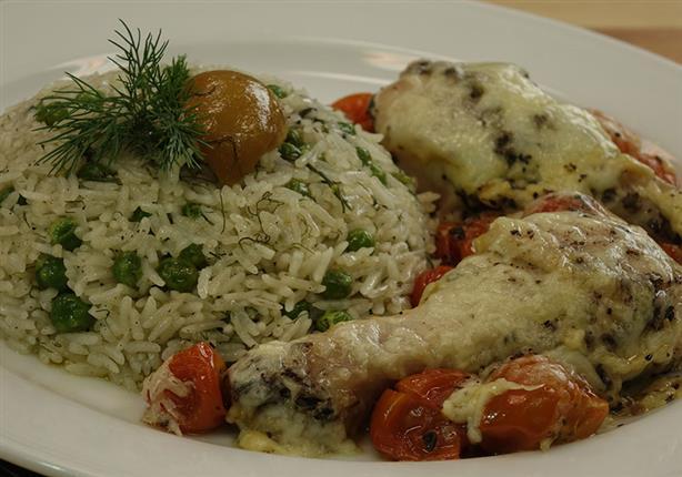 أرز بالمشروم ودبابيس دجاج بالثوم والزنجبيل - الشيف آيه حسني