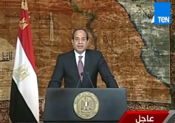 كلمة الرئيس عبد الفتاح السيسى بمناسبة ذكرى عيد تحرير سيناء