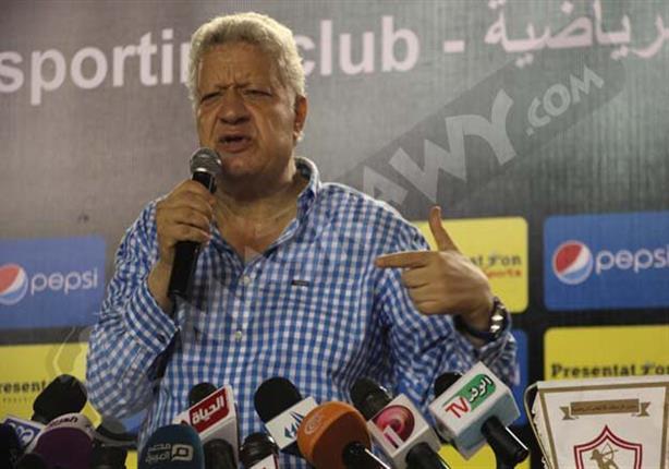 مرتضى منصور يدافع عن حسام غالي بعد واقعة الشارة