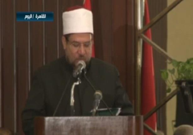 كلمة وزير الأوقاف خلال مؤتمر بحث آليات تجديد الخطاب الديني