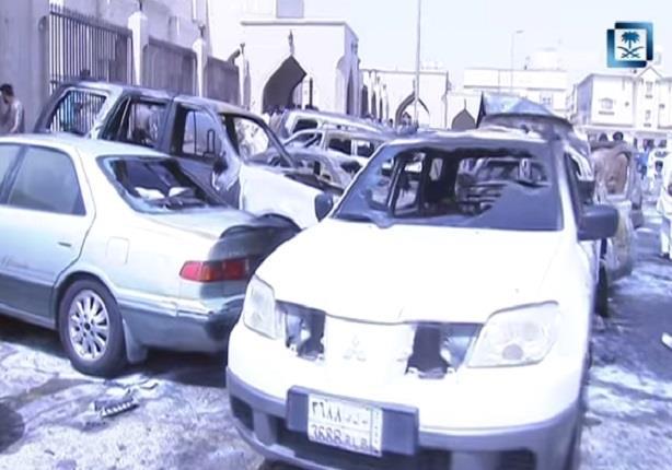 آثار محاولة تفجير مسجد بمنطقة الدمام بالسعودية
