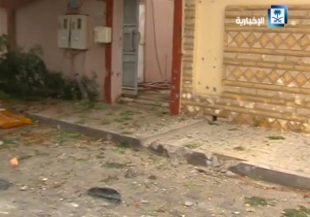 آثار القصف الحوثي لمدينة نجران السعودية