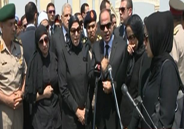 """كلمة الرئيس السيسى بعد تشييع جثمان النائب العام """"هشام بركات"""""""