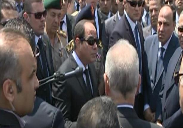 """الرئيس السيسى يوجه كلمة للقضاة بعد تشييع جثمان النائب العام """"هشام بركات"""""""