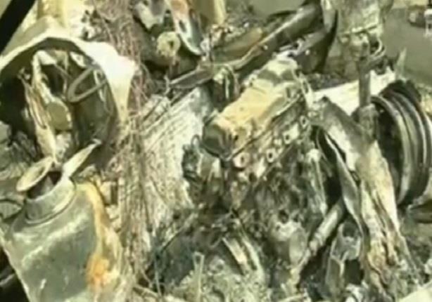 أحمد موسى يعرض السيارة التى تم استخدامها فى تفجير موكب النائب العام
