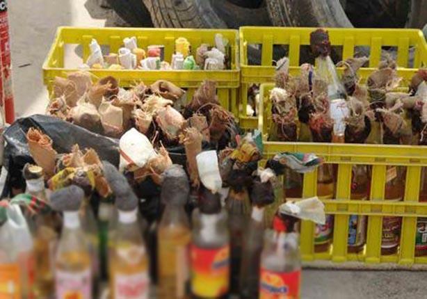 أمن الإسكندرية: ضبط قنبلتين و5 زجاجات مولوتوف بحوزة عضوين بالإخوان