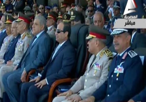 الرئيس السيسى يشهد حفل تخرج الدفعة 82طيران وعلوم عسكرية جوية