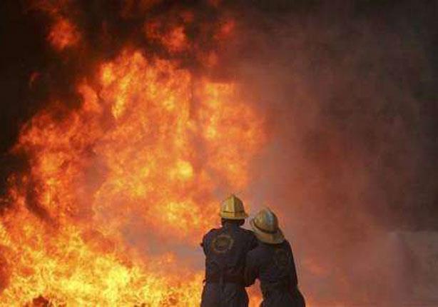 """حريق هائل بمصنع لحليج الأقطان بطريق """"المحلة - طنطا"""""""