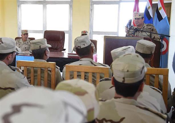 بالفيديو والصور- الرئيس السيسي يكشف حجم الجيش المصري المتمركز بسيناء