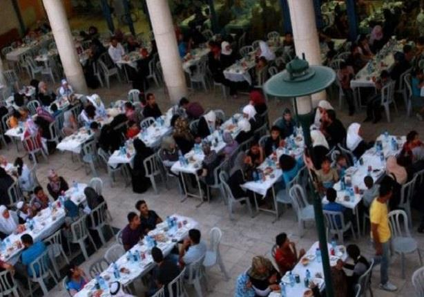 إفطار جماعي لـ20 ألف فلسطيني بغزة