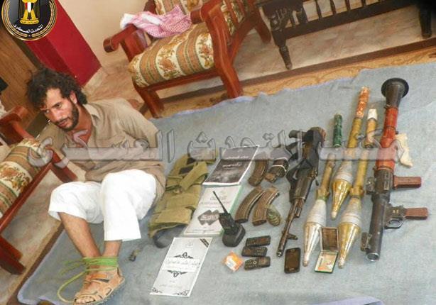 """بالصور.. المتحدث العسكري يعلن تفاصيل القبض على """"سالم"""""""