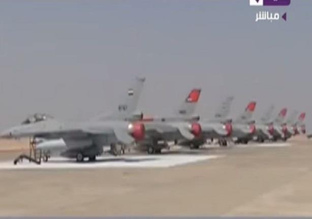 القوات الجوية تجرى عرضا تجريبيا فوق قناة السويس الجديدة