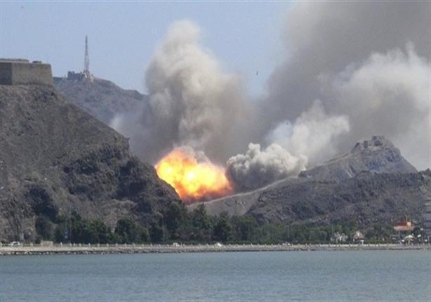 طائرات التحالف تواصل تقصف معسكر جبل النهدين جنوب صنعاء
