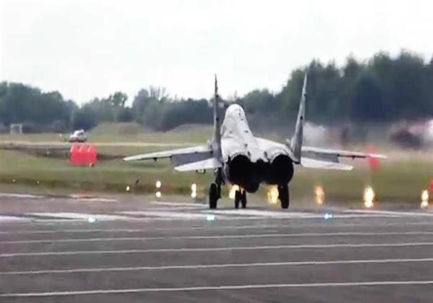 """بالفيديو.. إقلاع عمودي للطائرة المقاتلة """"ميغ 29"""""""