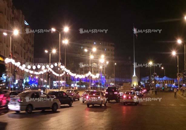 عدسة مصراوي ترصد استعدادات ميدان التحرير لحفل افتتاح قناة السويس
