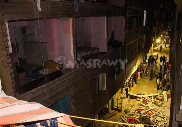 25 صورة من انفجار حدائق المعادي منازل منهارة واثاث محطم