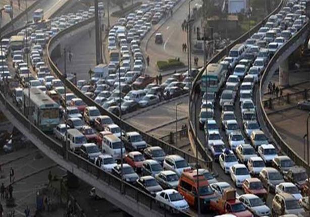 حركة المرور: كثافات أعلى كوبري ١٥ مايو وأكتوبر والهرم وكورنيش ال