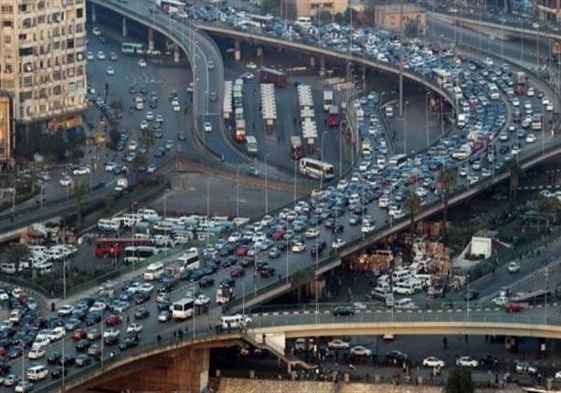 النشرة المرورية: غلق طريقي  القاهرة - أسوان .. وتكدسات أعلى كوبر