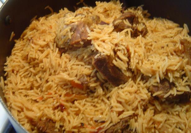 طريقة عمل أرز بالحمص واللحم