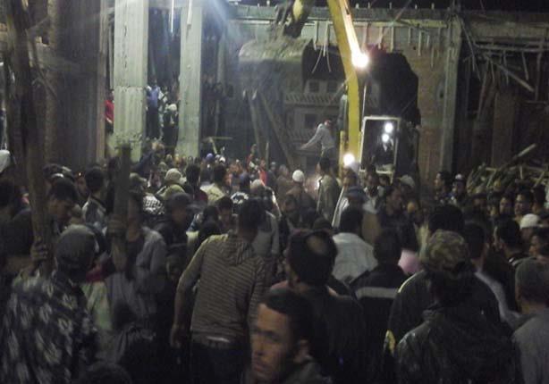 """""""مصراوي"""" ينشر أسماء ضحايا حادث انهيار مسجد كفر الشيخ"""