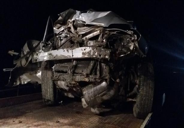 بالأسماء- مصرع وإصابة 8 أشخاص في حادث تصادم سيارتين بكفر الشيخ