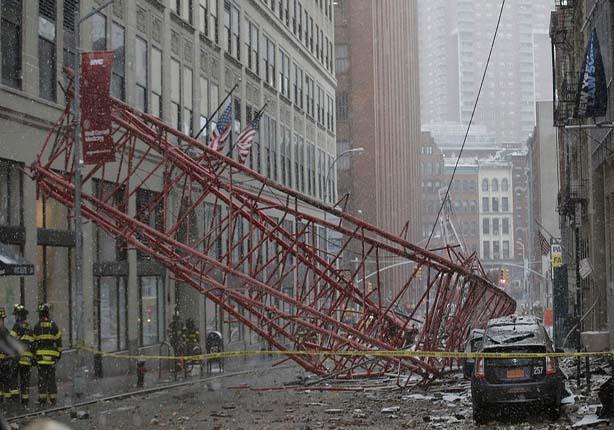 """ارتفاع قتلى حادث سقوط رافعة """"منهاتن"""" بنيويورك إلى 3 وإصابة إثنين"""