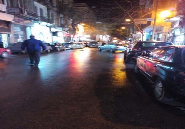 بالصور.. أمطار خفيفة بالإسكندرية بعد ساعات من الطقس السيئ