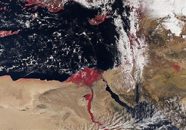 سر ظهور نهر النيل باللون الأحمر في صور التقطت من الفضاء