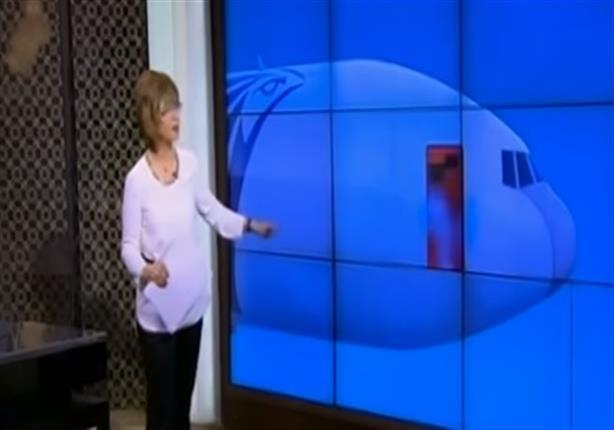 """لميس الحديدي تعرض """"جرافيك"""" لأسباب محتملة لسقوط الطائرة المصرية"""