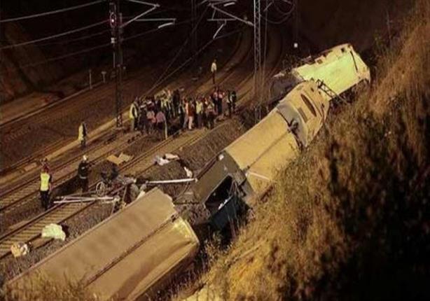 """خروج قطار بضائع عن القضبان بخط """"دسوق – دمنهور"""""""