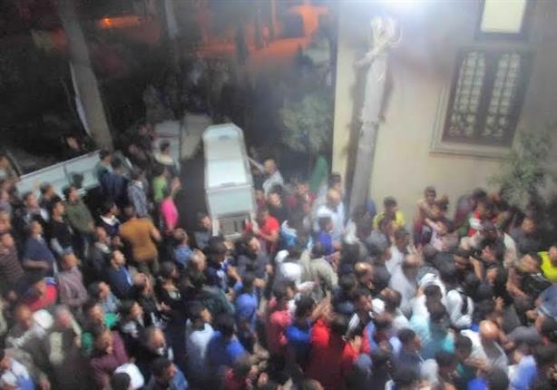 بالصور - برج مغيزل تشيع جثامين ٣ صيادين لقوا مصرعهم فى انفجار مركب بليبيا