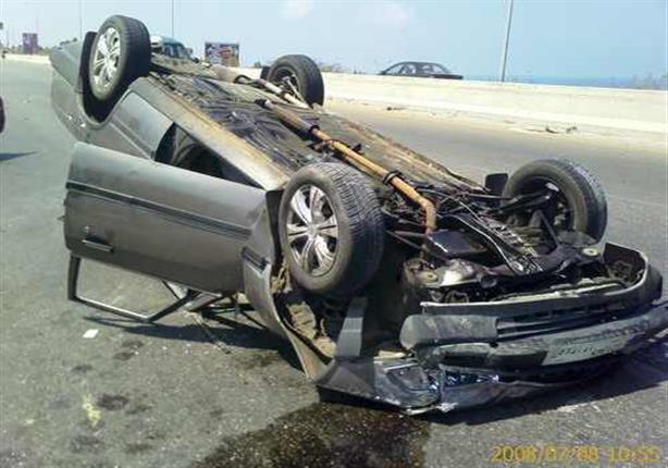 إصابة رئيس محكمة جنايات الاسماعيلية في حادث انقلاب سيارة