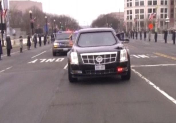 بالفيديو موكب سيارات ترامب يجوب شوارع واشنطن